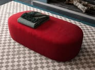 Upholstered rectangular fabric pouf GUEST | Pouf by Liu Jo Living Collection