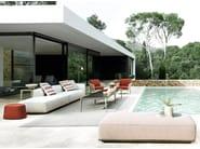 Garten Anbausofa aus Stoff HYBRID by B&B Italia Outdoor