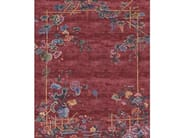 Handmade rectangular rug IMMORTALITY GROVE EMPERORS RED by Tapis Rouge