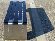 Panchina in legno e acciaio INCONTRO by LAB23
