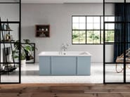 Rectangular cast iron bathtub INDUSTRIAL by BLEU PROVENCE