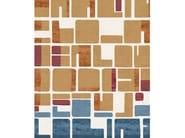 Handmade rectangular rug JEANNERET POIL DE CHAMEAU by Tapis Rouge