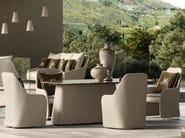 Resin garden chair with armrests KENZIA BRIDGE by Samuele Mazza Outdoor