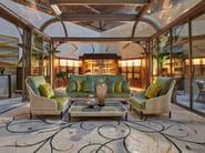 3 seater resin garden sofa KENZIA | Garden sofa by Samuele Mazza Outdoor