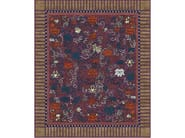 Handmade rectangular rug LINDGERING GARDEN PURPLE by Tapis Rouge