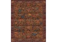 Handmade rectangular rug LINGERING GARDEN CHESTNUT by Tapis Rouge