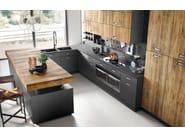 Cucina componibile in stile moderno con isola con maniglie Lab 40 - Composizione 3 by Marchi Cucine