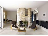 Wand- und Bodenbelag aus Feinsteinzeug mit Stein-Effekt MATERIAL STONES by CERIM