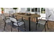 Oval wooden garden table MEMPHIS   Table by Vermobil