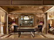 Oak boiserie with integrated lighting MONTECARLO | Boiserie by Martini Interiors