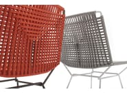 Sled base rope garden chair NEIL TWIST   Chair by MDF Italia