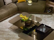 Low table in metal and glass NETTUNO   Coffee table by Paolo Castelli