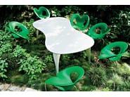 Tisch aus Aluminium NO WASTE by Moroso