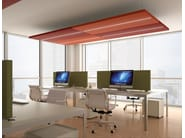 Group of sound-absorbing ceiling panels NUVOLA | Hanging acoustic panel with Integrated Lighting by Caruso Acoustic