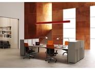 ONLINE SYSTEM ONLINE3 Postazione di lavoro - Scrivania direzionale - Contenitore ante scorrevoli con serratura e maniglia