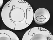 Taza de porcelana con platillo OPINION | Taza con platillo by extranorm
