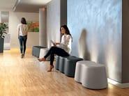 Polyethylene garden bench PEANUTS   Bench seating by Lyxo Design