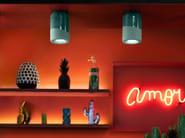 Lampada da soffitto in ceramica PI C985 by FERROLUCE