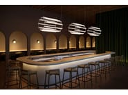 LED aluminium and acrylic pendant lamp PIPELINE 6 by ANDlight