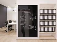 Magnetic glass and steel whiteboard