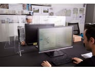 Divider panels for desks and counters PLEXY by REXITE