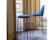 Upholstered steel stool PRECIOUS | Stool by Moroso