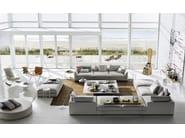 Corner sectional fabric sofa RICHARD   Corner sofa by B&B Italia