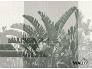Fire retardant washable Tropical nonwoven wallpaper RIO by WALLYART