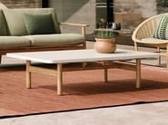 Low marble garden side table RIVA   Marble coffee table by Kettal