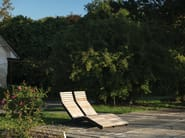 RIVAGE   Lettino da giardino in acciaio e legno