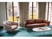 Fabric armchair with armrests ROMA | Armchair by Tacchini
