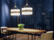 LED fabric pendant lamp ROULETTE by Paolo Castelli