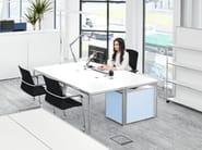 Height-adjustable rectangular office desk S-DESK | Office desk by Bosse