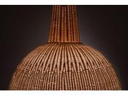 Lampada a sospensione a luce indiretta in midollino SFERA by Bottega Intreccio
