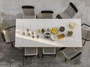Rectangular powder coated aluminium garden table SIENNA   Rectangular table by Kok Maison