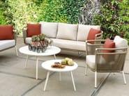Round powder coated aluminium garden side table SIENNA   Round coffee table by Kok Maison