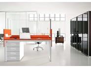 Rectangular workstation desk SMARTDESK BUSINESS by ARKOF LABODESIGN