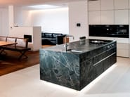 Isola cucina in pietra naturale ST-ONE by STRASSER