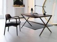 Rechteckiger Schreibtisch aus Walnuss STYLO | Schreibtisch aus Walnuss by Porada