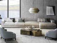 Sofá secional de tecido com chaise-longues SUITE | Sofá com chaise-longues by Casamilano