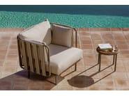 Tavolino basso rotondo in acciaio e legno TEJA | Tavolino rotondo by Bivaq