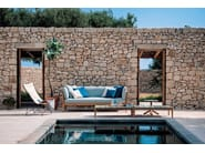 Mesita baja de teca para jardín TEKA | Mesita rectangular by RODA