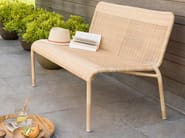 Garden bench with back TOBAGO | Garden bench by Kok Maison