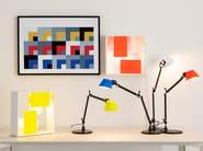 Lampada da scrivania a luce diretta in alluminio TOLOMEO MICRO BICOLOR by Artemide