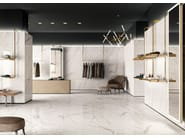 Pavimento/rivestimento antibatterico ultrasottile effetto marmo TRILOGY 0.3 by Panaria Ceramica