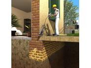 URETEK WALLS RESTORING Elemento di muratura trattato con resina Uretek IDRO CP 200