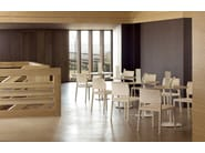 Stackable open back oak chair VALERIA SI7511 by Andreu World