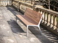 Steel and wood Bench with back VLTAU   Steel and wood Bench by mmcité1