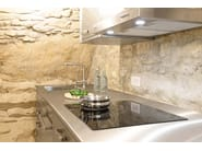 Cucina in acciaio inox e legno WINDOW C1 by Lgtek