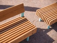 Steel and wood Bench WOODY BABY by mmcité1